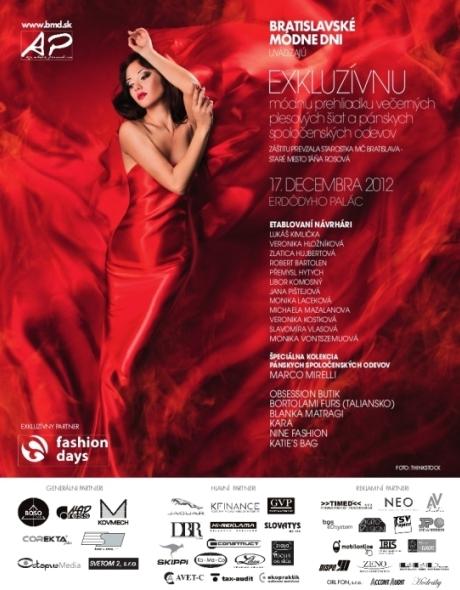 Pozvánka na Bratislavske módne dni 2012