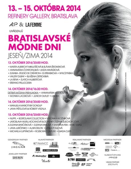 Pozvánka na Bratislavské módne dni 2014